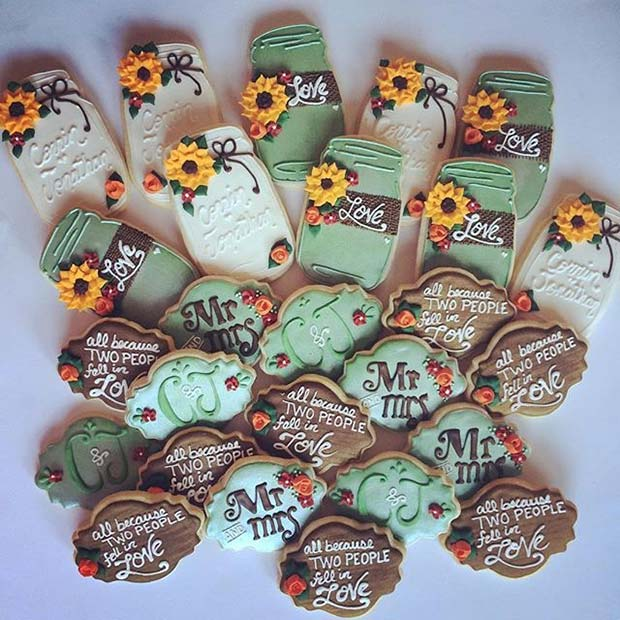 Fall Theme Wedding Cookies for Fall Wedding Ideas