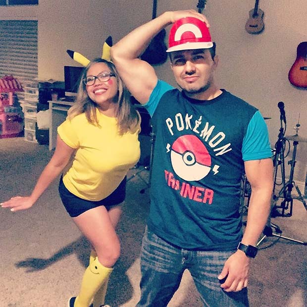 Ash and Pikachu for Halloween Costume Ideas for Couples