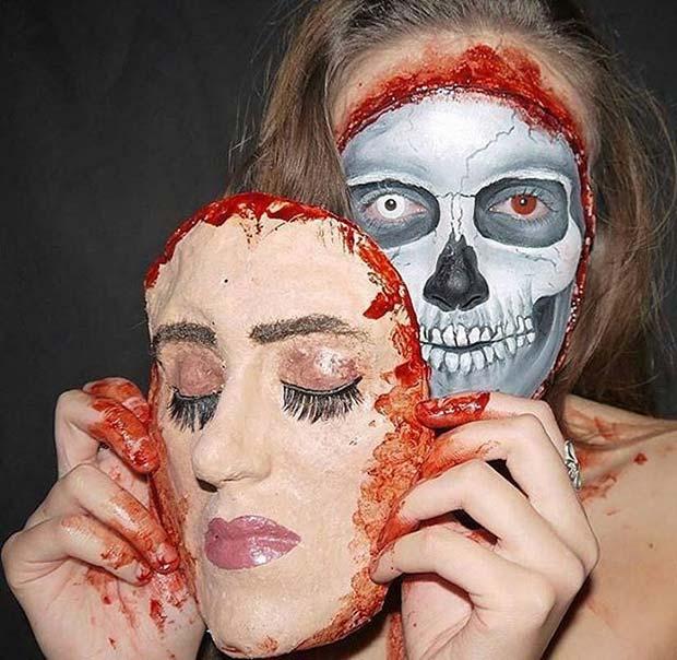Face Off Makeup for Creative DIY Halloween Makeup Ideas
