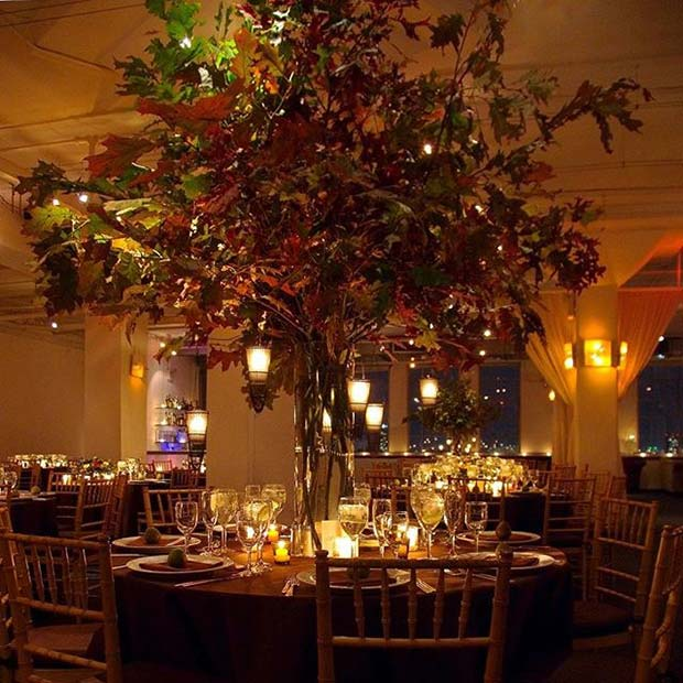Fall Tree Wedding Decor for Fall Wedding Ideas