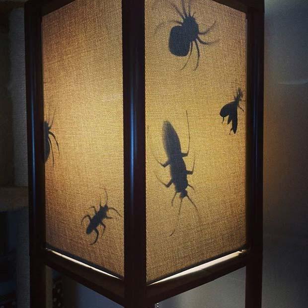 Bug Lamp for Fun DIY Halloween Party Decor