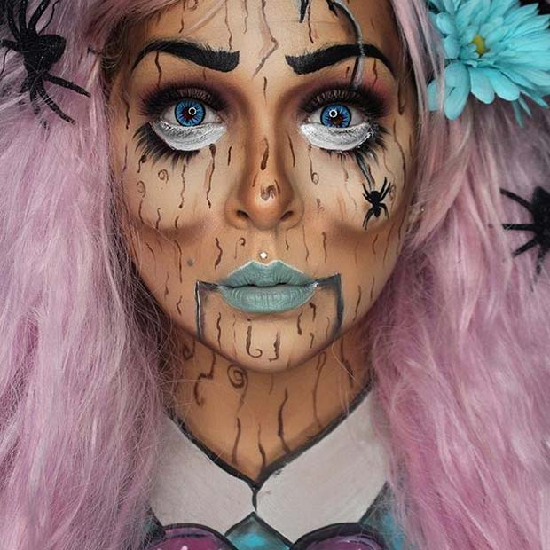 Halloween Puppet for Creepy Halloween Makeup Ideas
