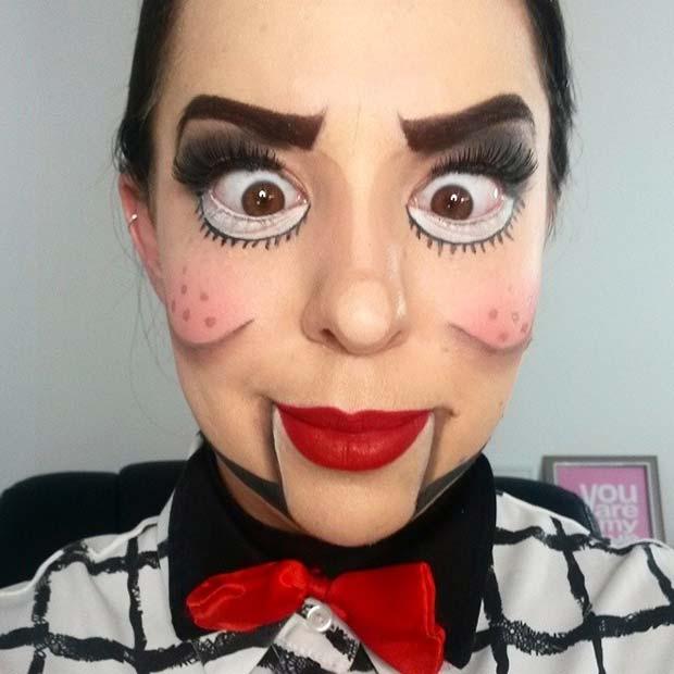 Creepy Dummy Makeup for Creative DIY Halloween Makeup Ideas
