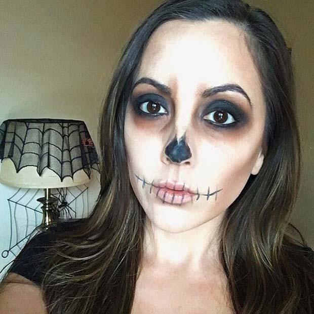 Spooky Skull Makeup for Easy Halloween Makeup Ideas