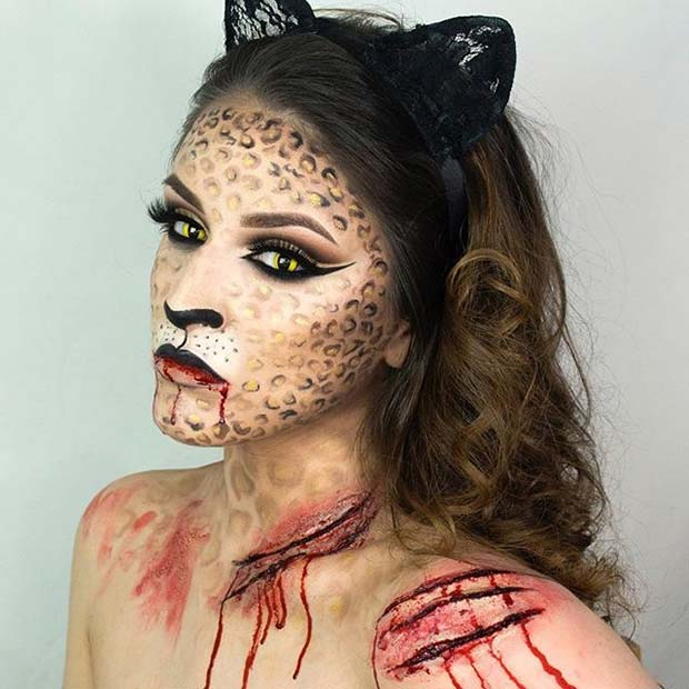 Halloween Cat for Creepy Halloween Makeup Ideas
