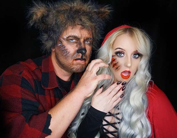 red riding hood and wolf for halloween costume ideas for couples