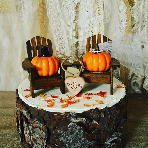 Pumpkin Wedding Cake for Fall Wedding Ideas