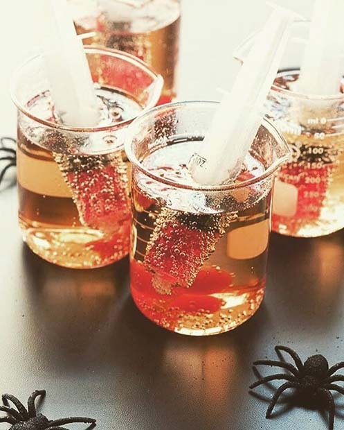 Syringe Shots for Halloween Party Drinks