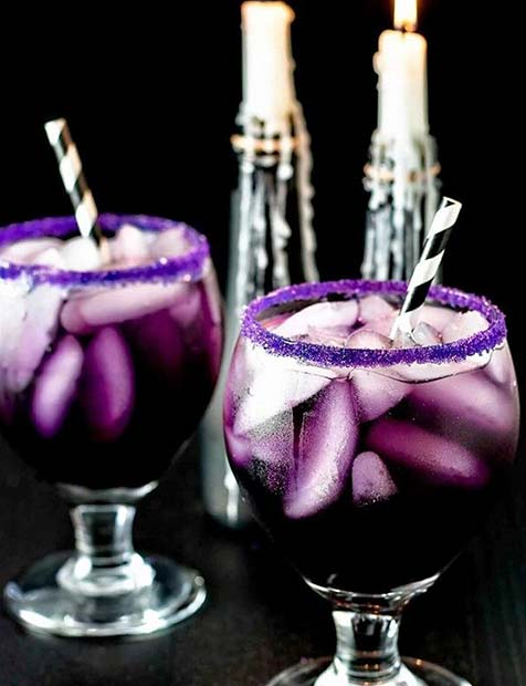 Purple Halloween Drinks for Halloween Party Drinks