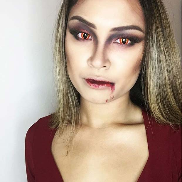 Vampire Makeup for Easy Halloween Makeup Ideas