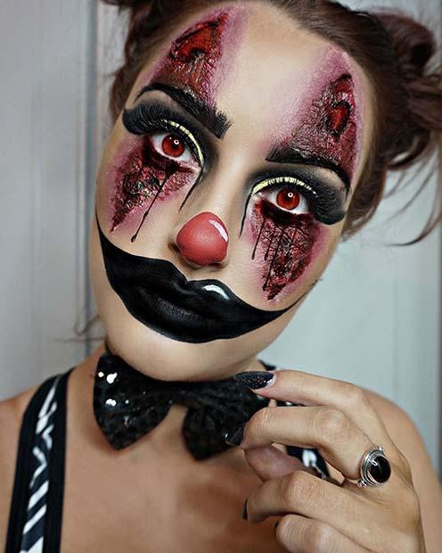 21 creepy halloween makeup ideas stayglam. Black Bedroom Furniture Sets. Home Design Ideas