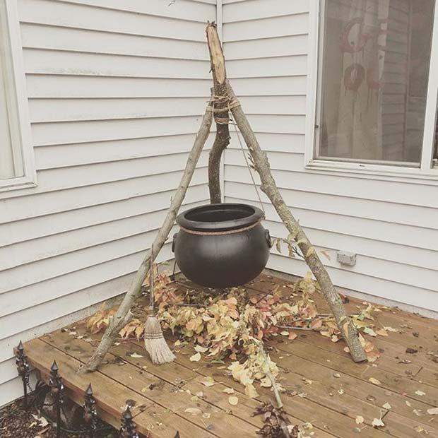 Creative Cauldron for Fun DIY Halloween Party Decor