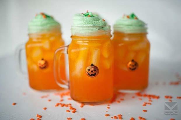 Pumpkin Juice for Halloween Party Drinks