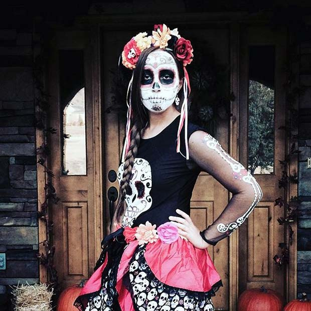 Day of the Dead Skeleton for Halloween Costume Ideas for Teens