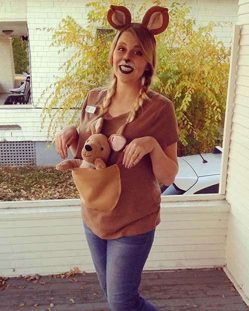 Cute Kangaroo for Halloween Costumes for Pregnant Women