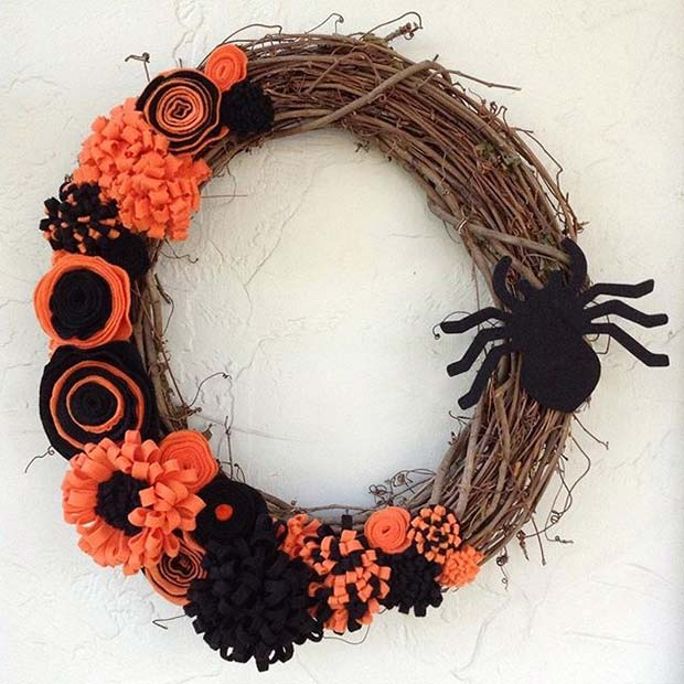 Halloween Wreath for Fun DIY Halloween Party Decor