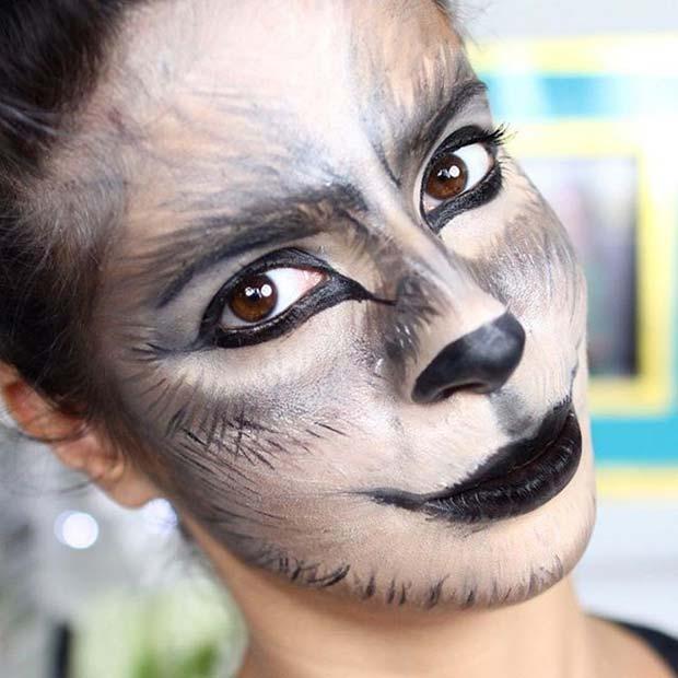 Wolf Makeup for Cute Halloween Makeup Ideas