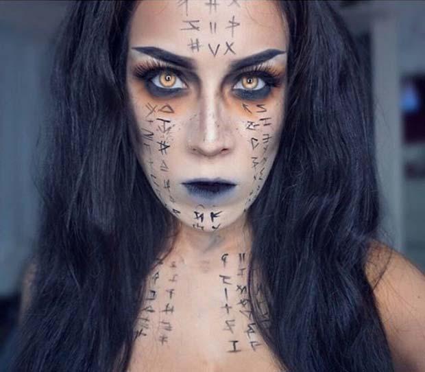 The Mummy Makeup for Creative DIY Halloween Makeup Ideas