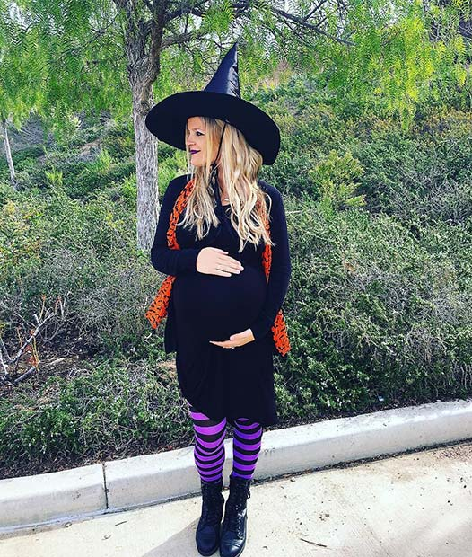 Spooky Witch for Halloween Costumes for Pregnant Women