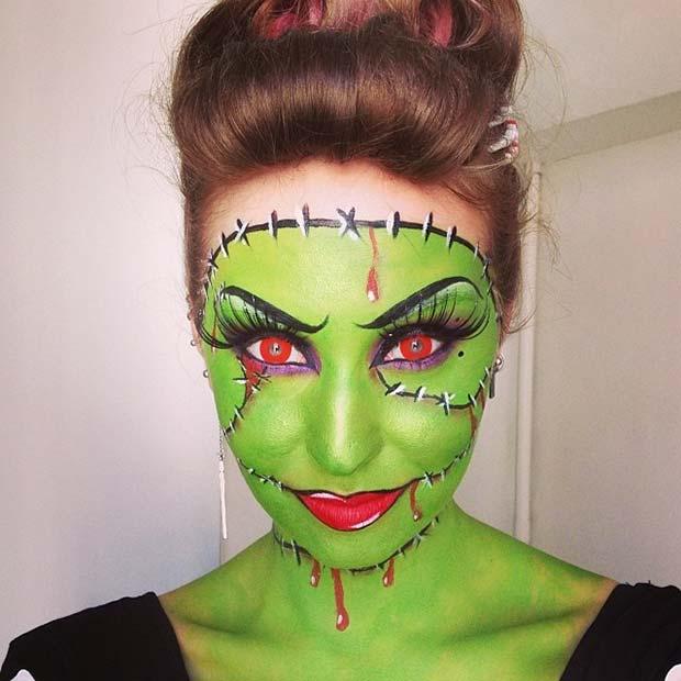 Frankenstein Makeup for Cute Halloween Makeup Ideas