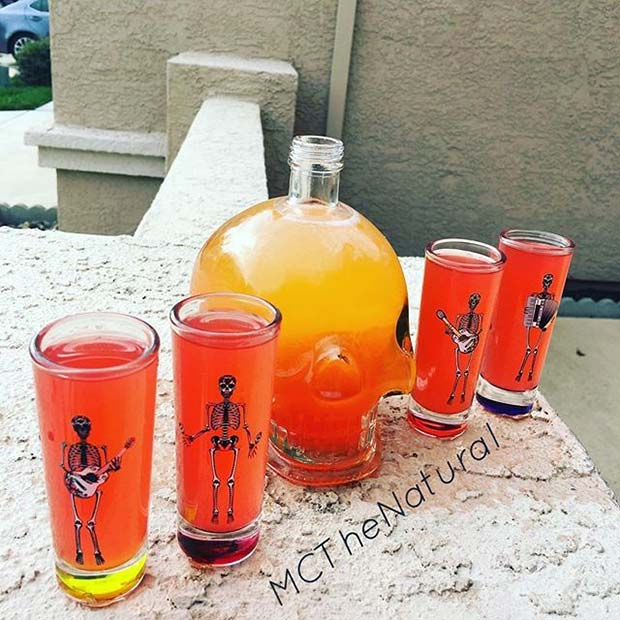 Skulls and Skeletons for Halloween Party Drink