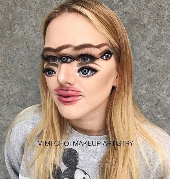 makeup illusion for creative diy halloween makeup ideas