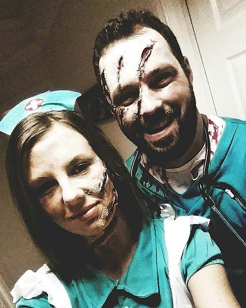 Undead Doctor and Nurse for Halloween Costume Ideas for Couples