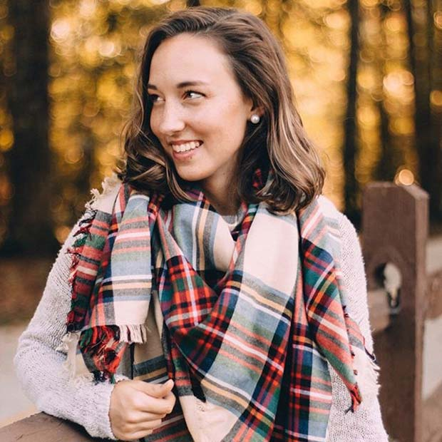 Flannel Scarf for Flannel Outfit Ideas for Fall