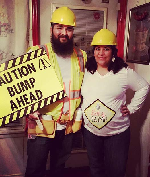 Bump Ahead Costume for Halloween Costumes for Pregnant Women