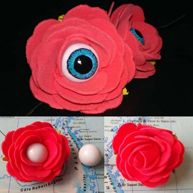 Creative Eyeball Flowers for Fun DIY Halloween Party Decor