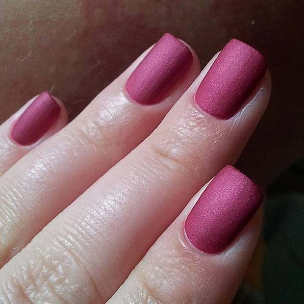Dark Pink Matte Nails for Matte Nail Designs for Fall