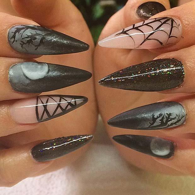 11 More Creepy and Creative Halloween Nail Designs ...