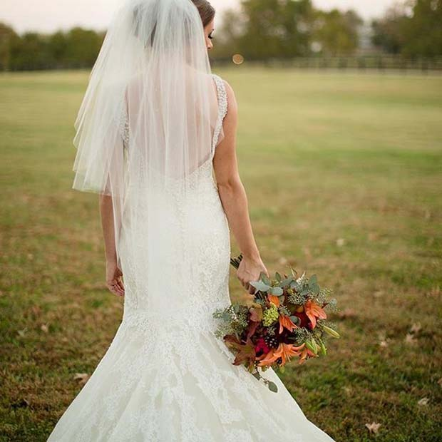 Fall Bridal Look for Fall Wedding Ideas