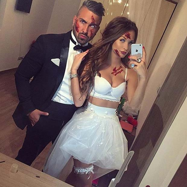 Zombie Bride and Groom for Halloween Costume Ideas for Couples
