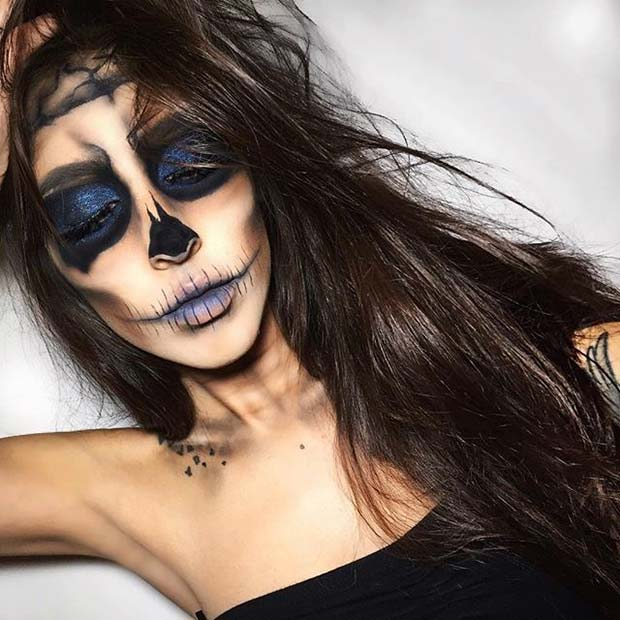 Creepy Skull for Creepy Halloween Makeup Ideas