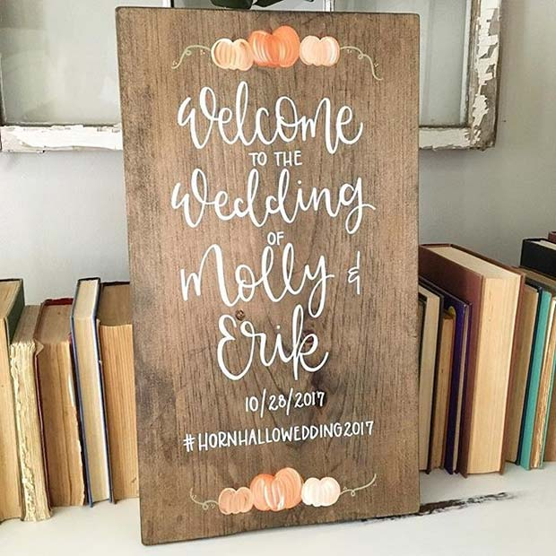Rustic Fall Wedding Sign for Fall Wedding Ideas
