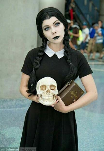 Wednesday Addams for Halloween Costume Ideas for Teens