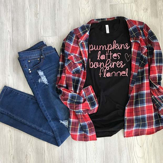 Ultimate Fall Outfit for Flannel Outfit Ideas for Fall