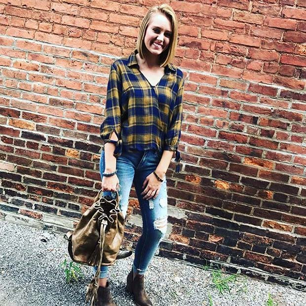 Cute Fall Flannel for Flannel Outfit Ideas for Fall