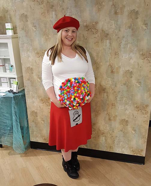 Funny Gumball Costume for Halloween Costumes for Pregnant Women