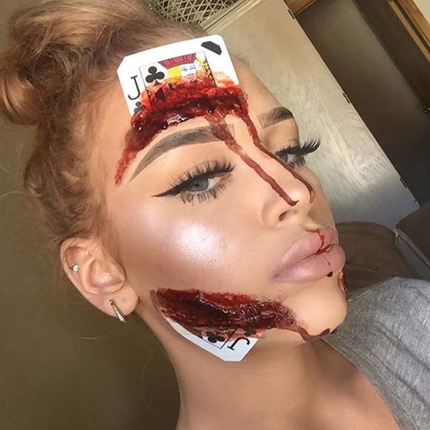 Halloween Card Idea for Creepy Halloween Makeup Ideas