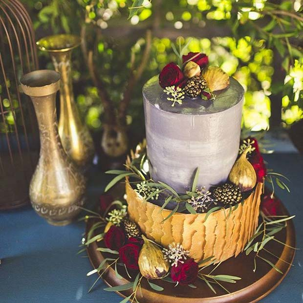 21 stunning fall wedding ideas stayglam rustic fall wedding cake for fall wedding ideas junglespirit Gallery