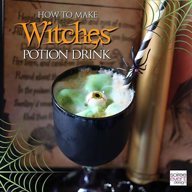 Witches Potion for Halloween Party Drinks
