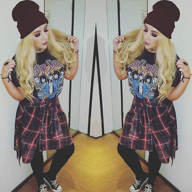 Grunge Outfit for Flannel Outfit Ideas for Fall