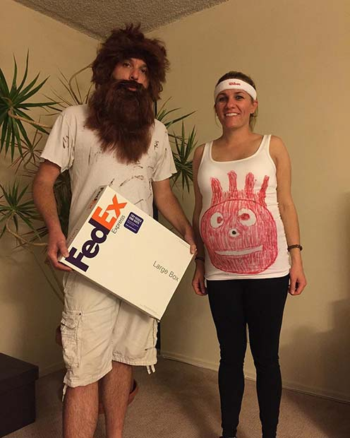funny castaway couples costume for halloween costumes for pregnant women - Pregnant Halloween Couples Costumes