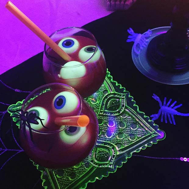 Eyeball Cocktails for Halloween Party Drinks