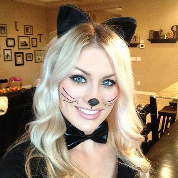 Easy Cat Halloween Makeup for Easy Halloween Makeup Ideas
