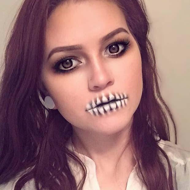 Simple Skull Makeup for Easy Halloween Makeup Ideas