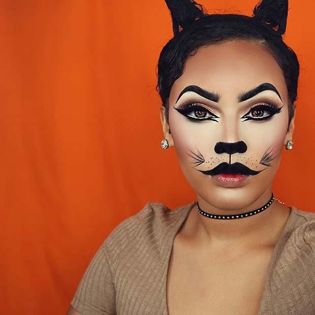 Fierce Feline for Cute Halloween Makeup Ideas