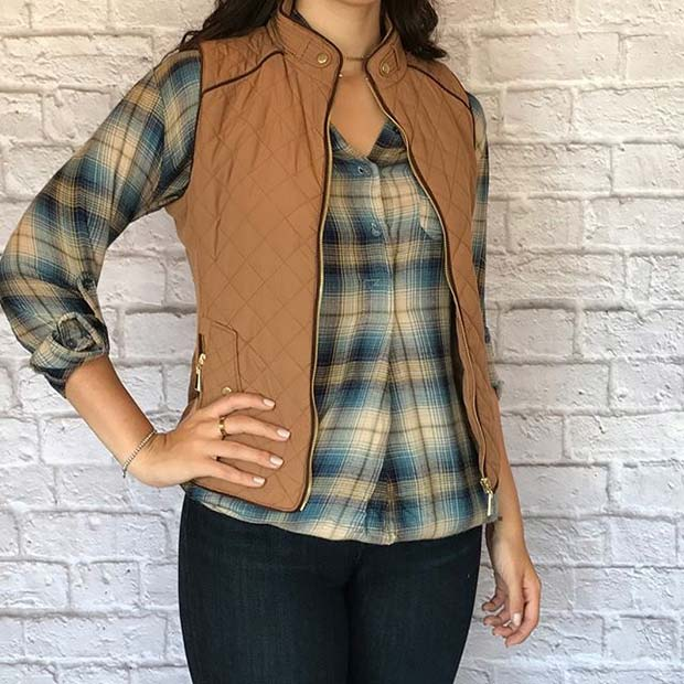 Flannel and Gilet for Flannel Outfit Ideas for Fall